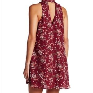 Maroon floral chiffon dress from Nordstrom